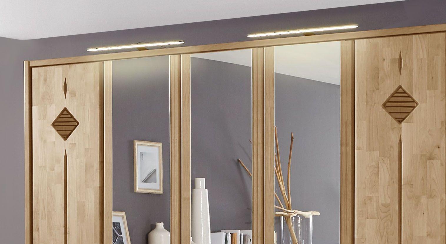 Spiegel-Kleiderschrank Aliano mit eingefassten Spiegeltüren