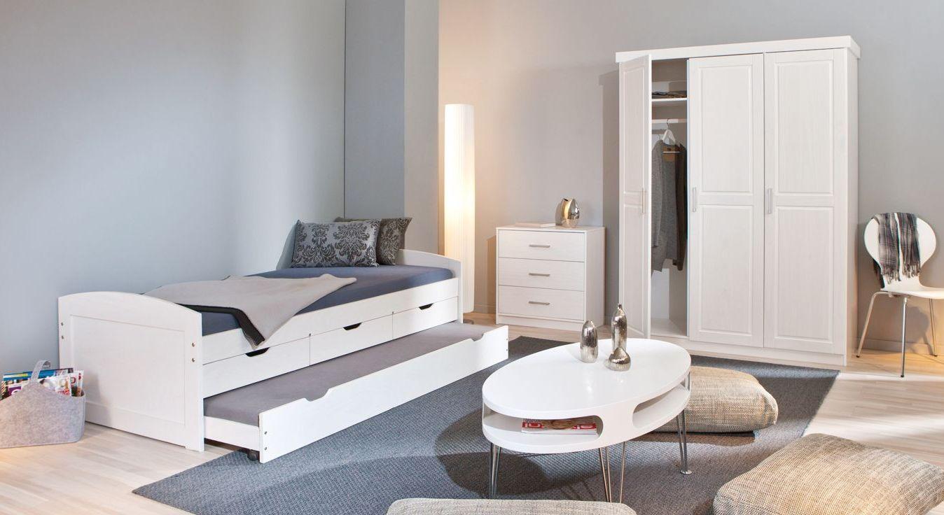 Ausziehbett Leon mit passenden Schlafzimmer-Möbeln