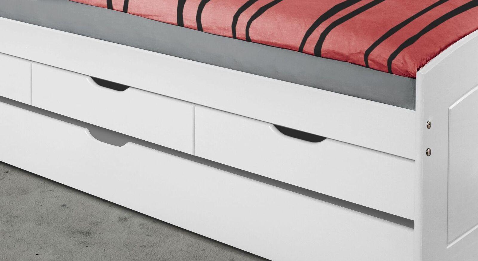 Ausziehbett Nouna mit drei Schubladen