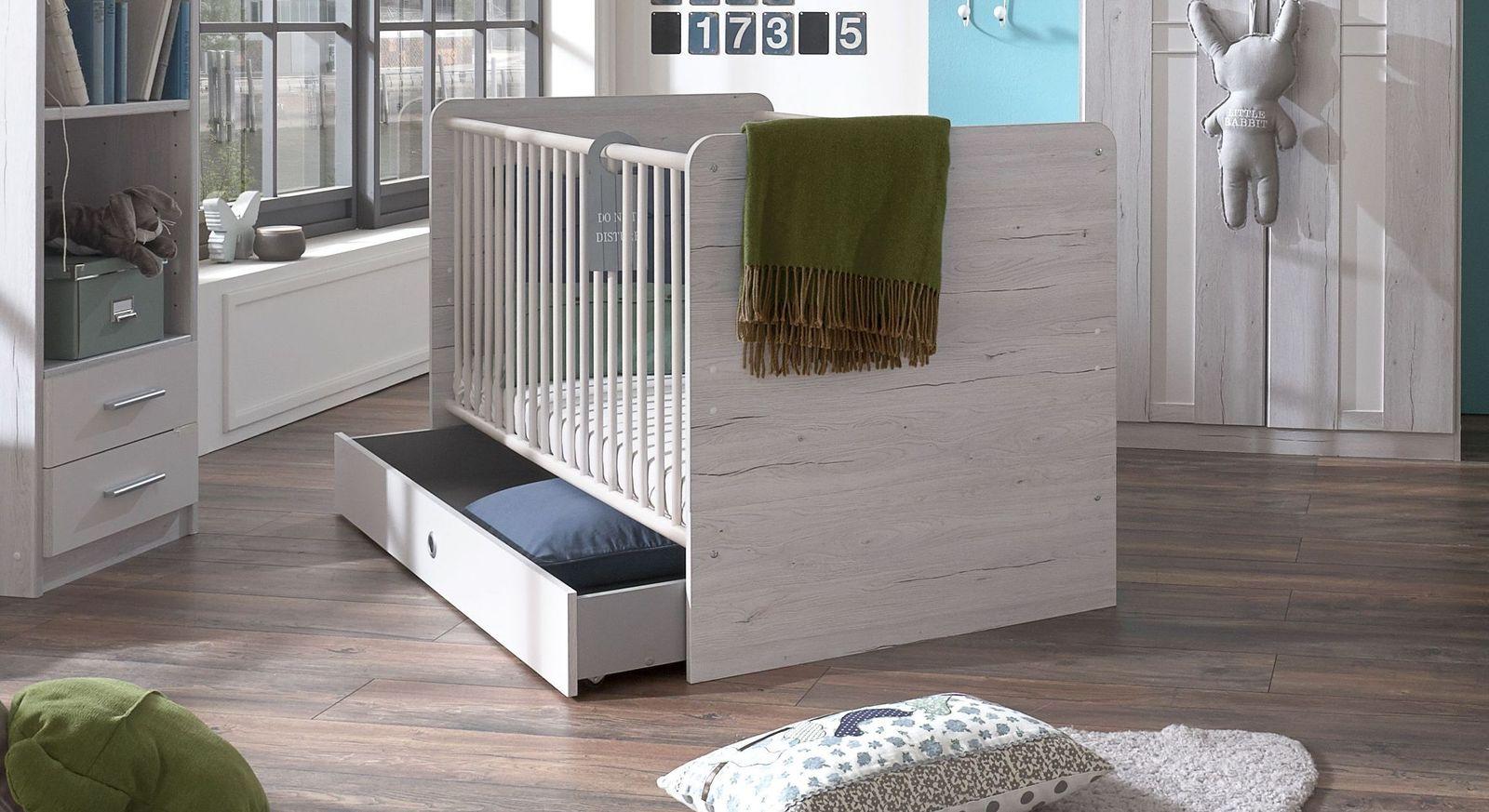 Babybett Carlino in Weißeiche Dekor