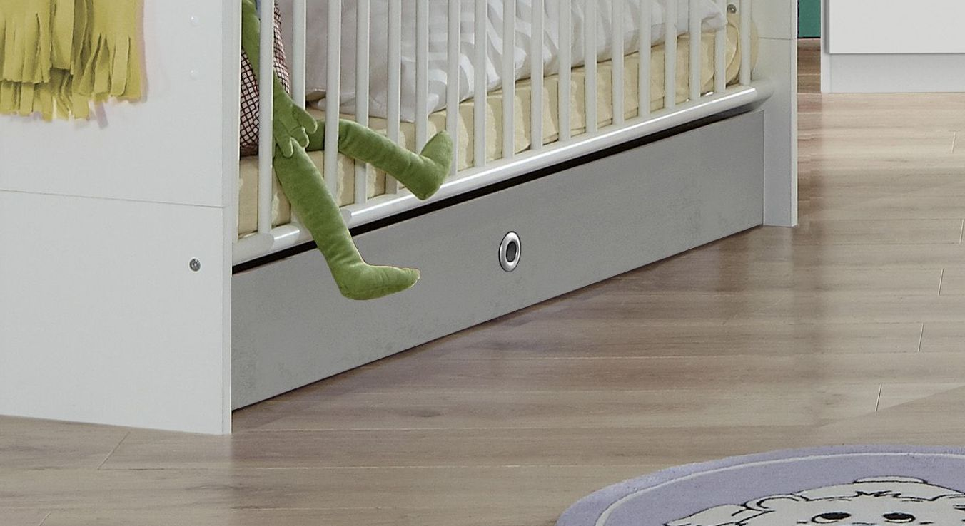 Babybett Porvenirs Bettschublade im Absetzton