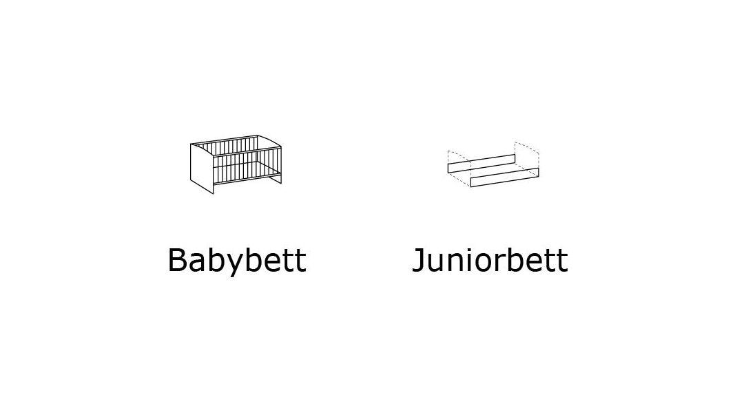 Babybett umbaubar zum Juniorbett