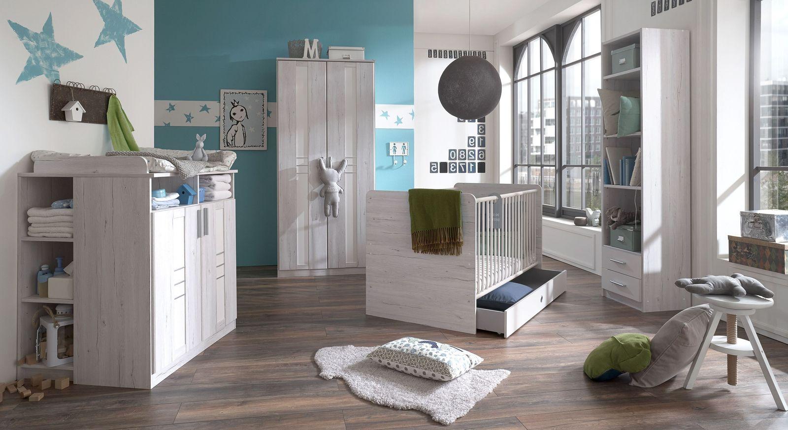 Preiswertes Babyzimmer Carlino in hellem Dekor