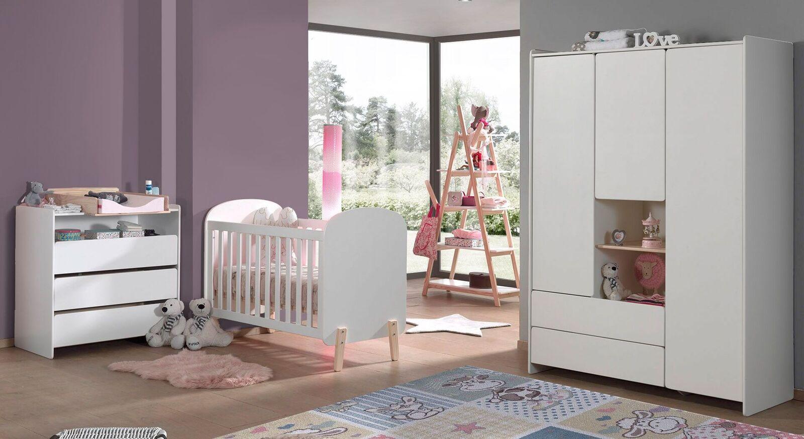 Babyzimmer Maila 4-teilig aus MDF und Kiefer
