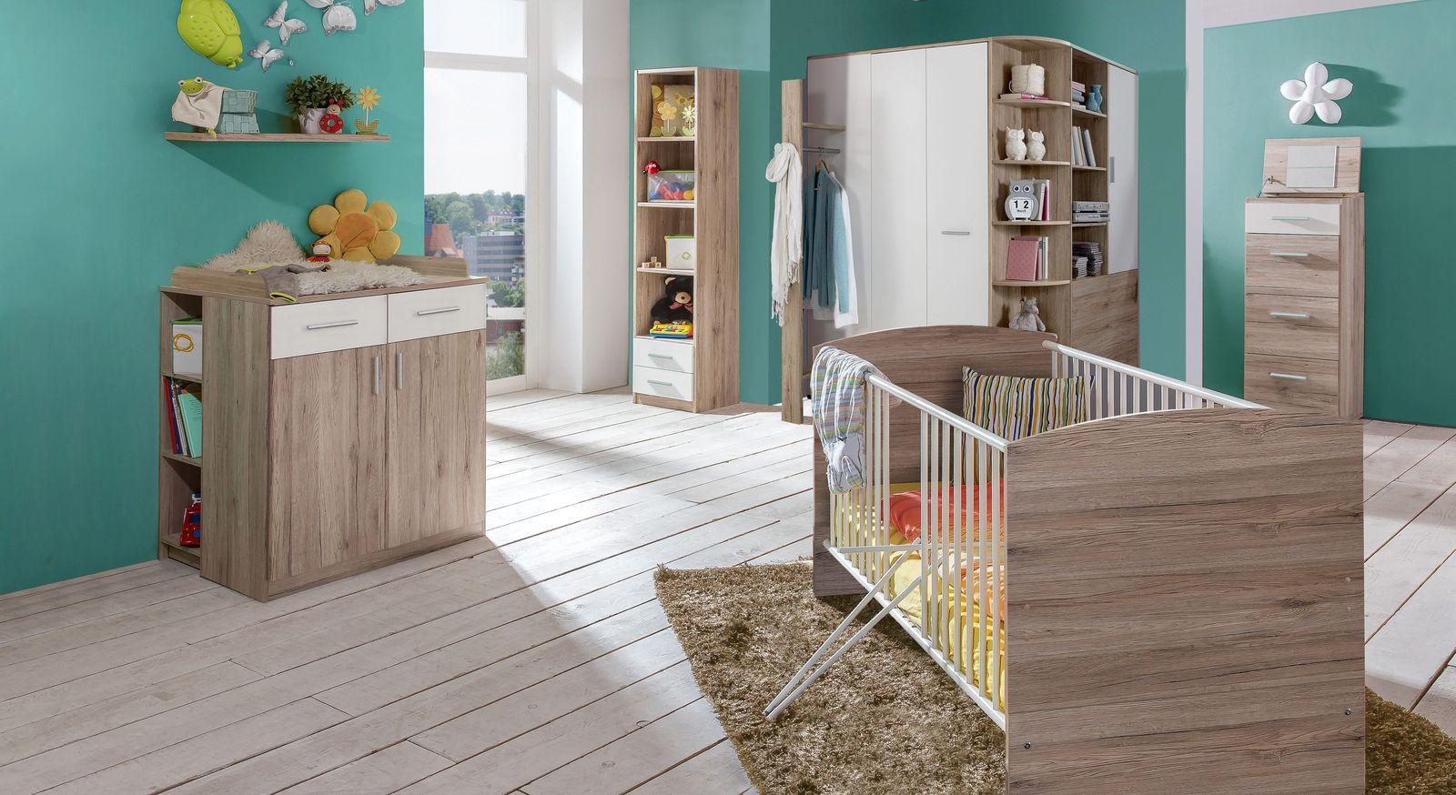 Babyzimmer Zagra in alpinweißem und Eiche san remo Dekor