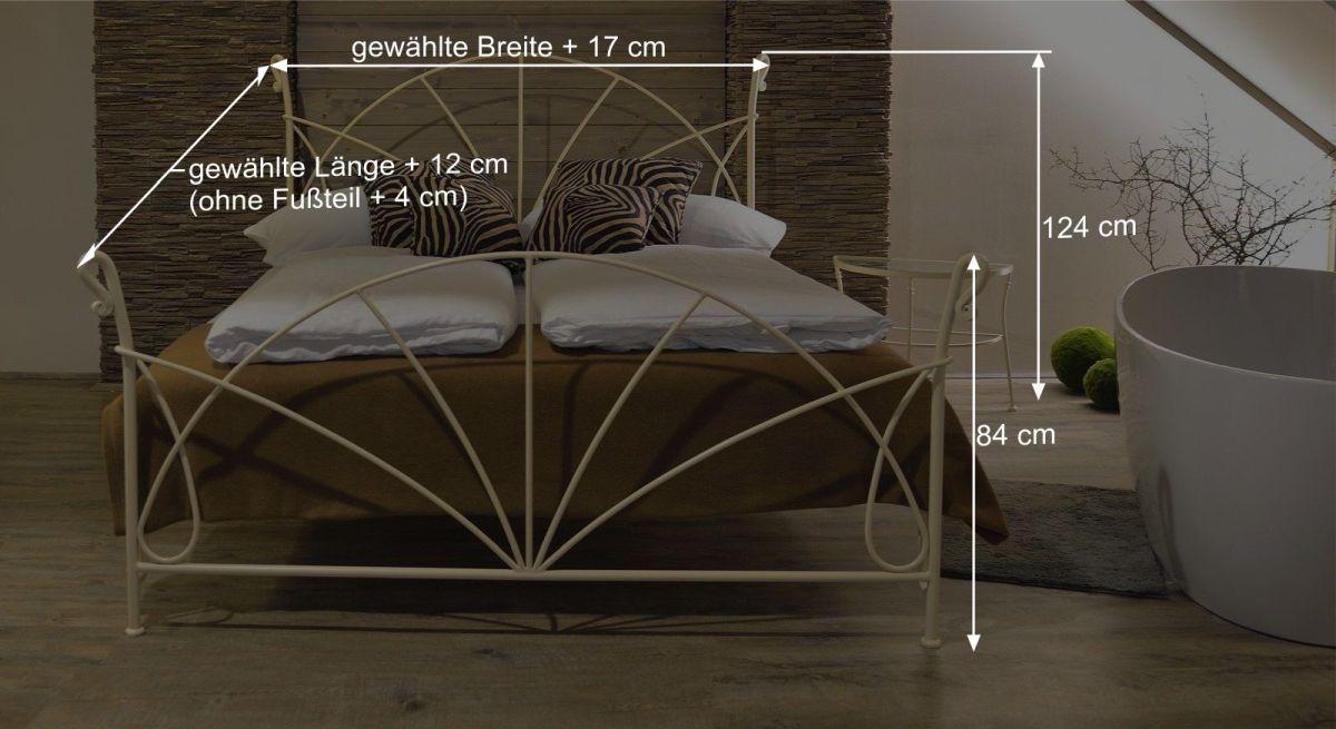 Maßgrafik als Info für Bett Acara