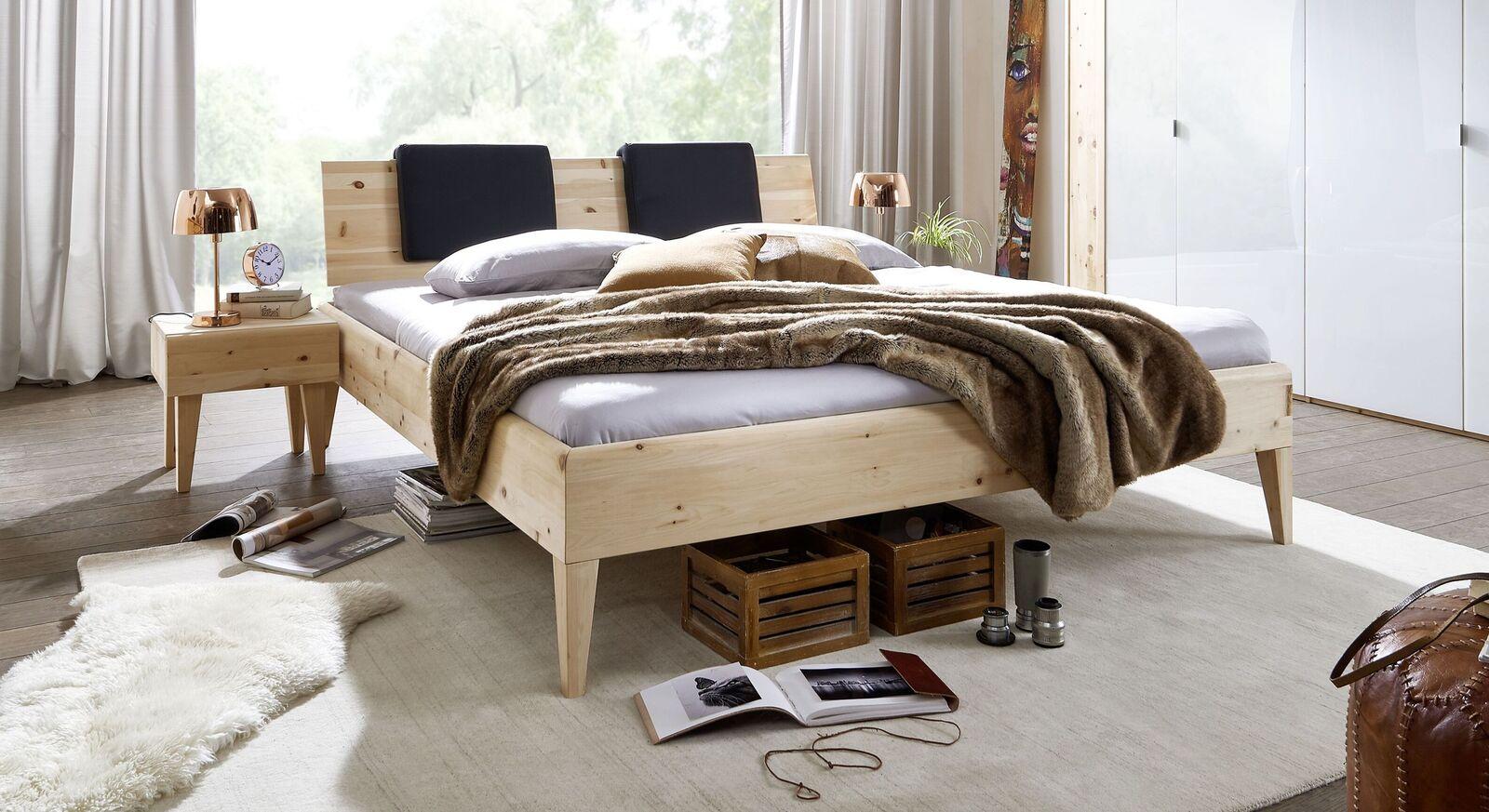 Bett Alistra Komfort aus hochwertigem Zirbenholz