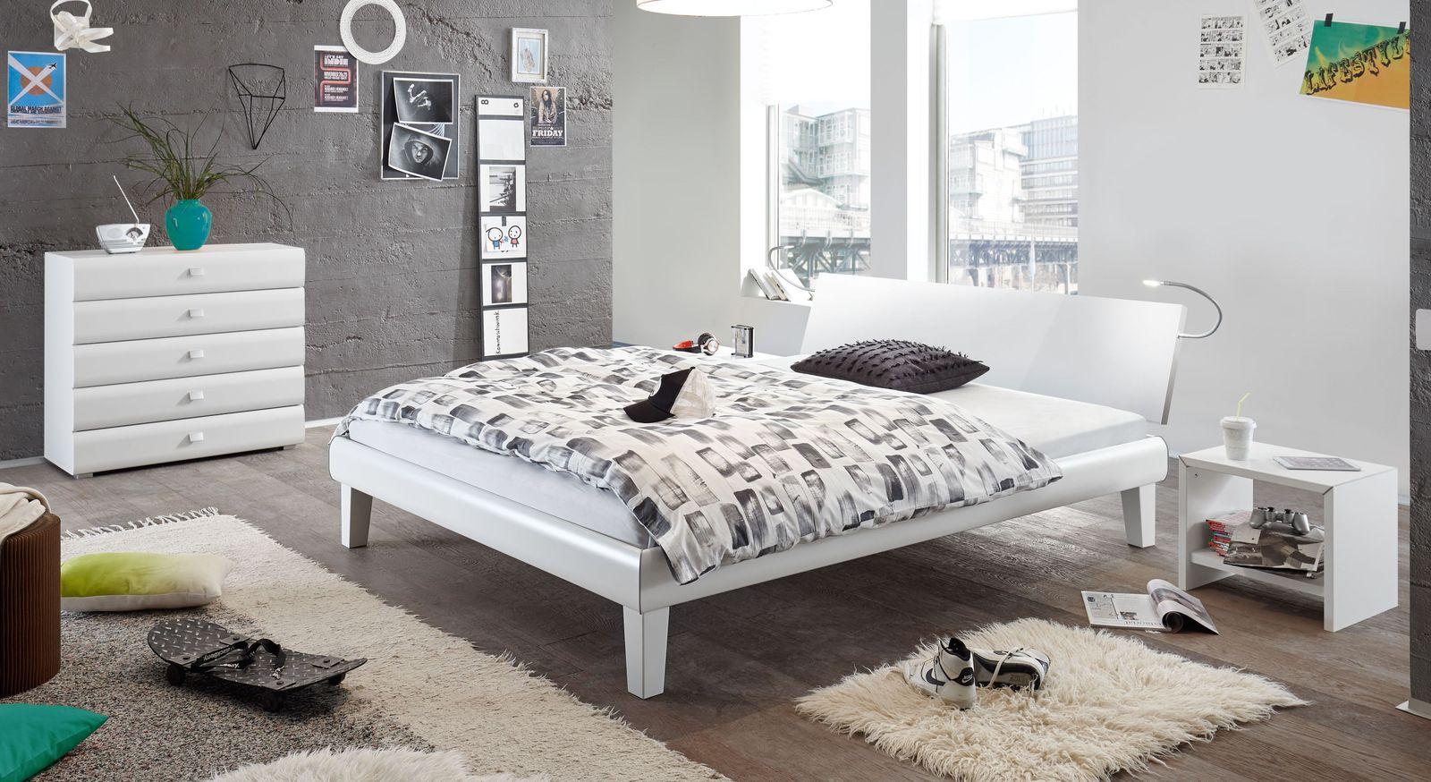 designerbett in z b 140x200 cm auf rechnung arona. Black Bedroom Furniture Sets. Home Design Ideas