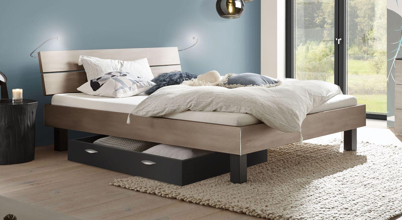 Bett Asuka mit pflegeleichter MDF-Oberfläche