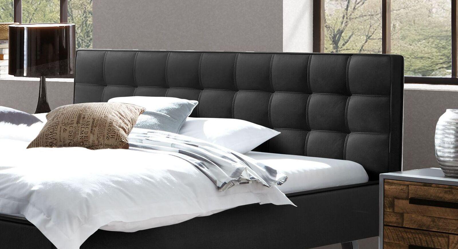 Bett Banvano mit attraktiver Kopfteil-Steppung