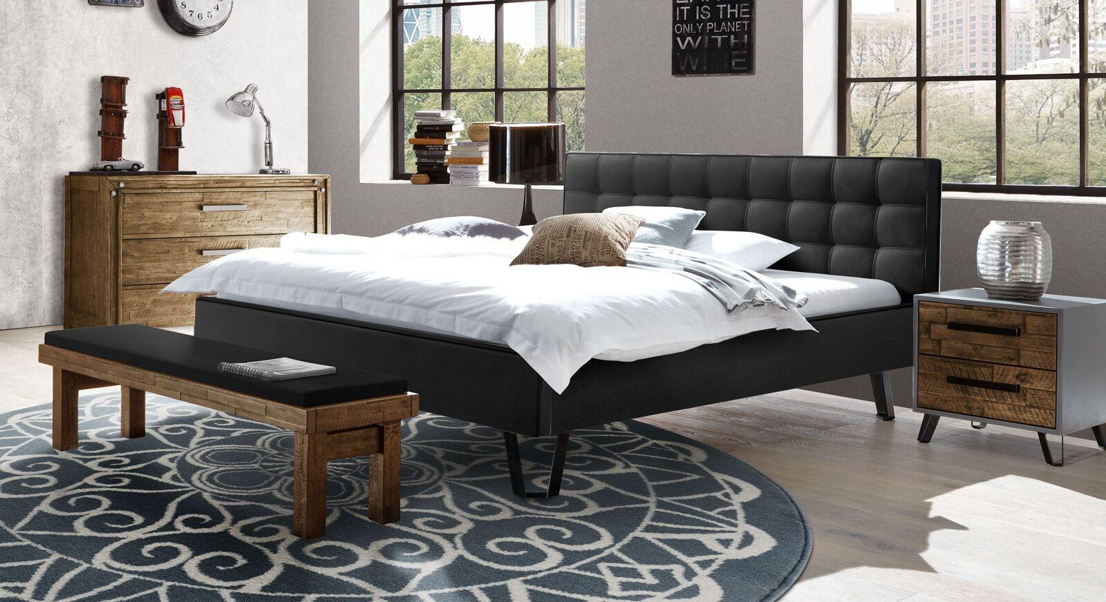 Modernes Bett Banvano mit gepolstertem Bettrahmen