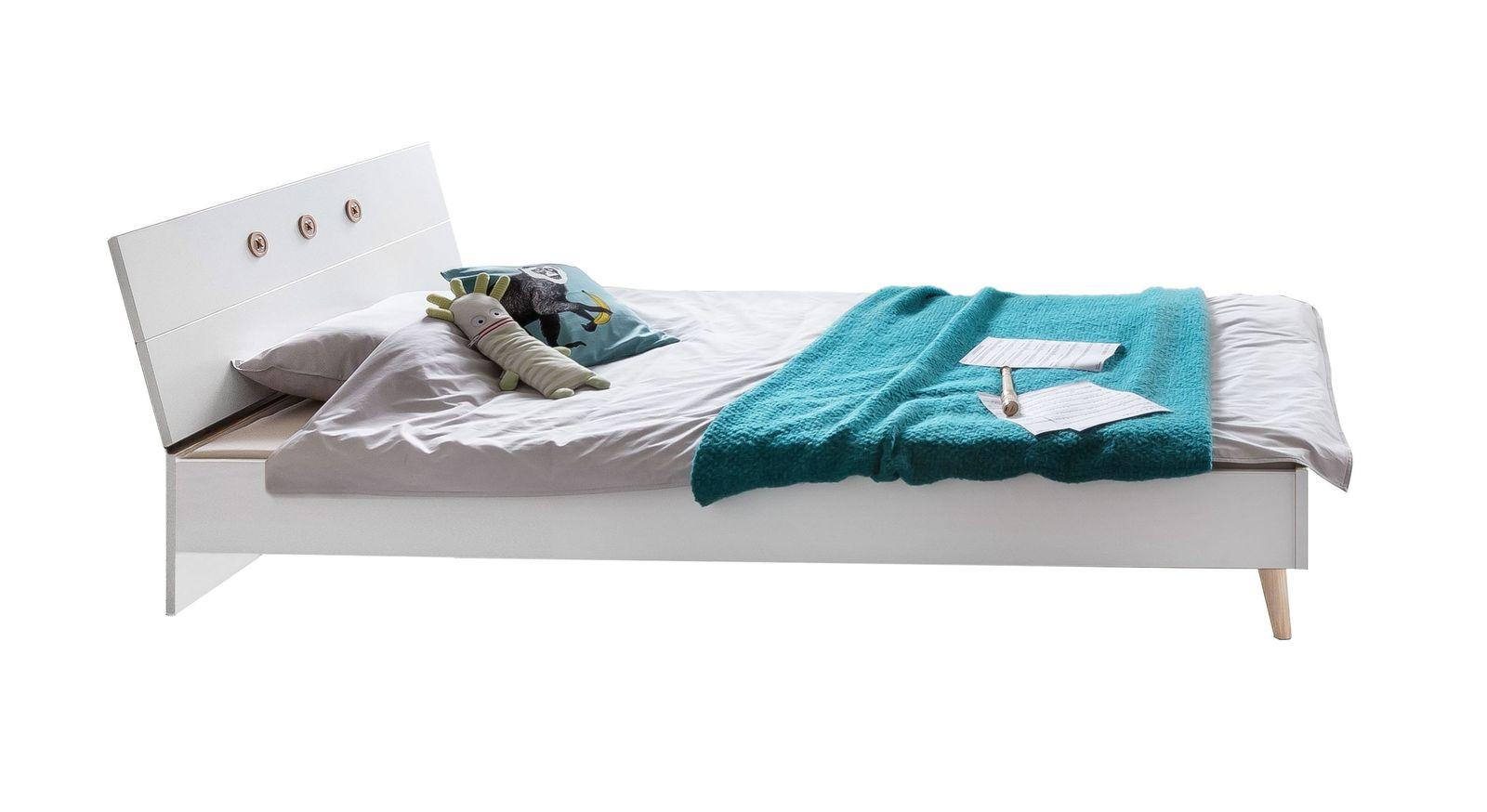 Günstiges Bett Beano in alpinweißem Dekor