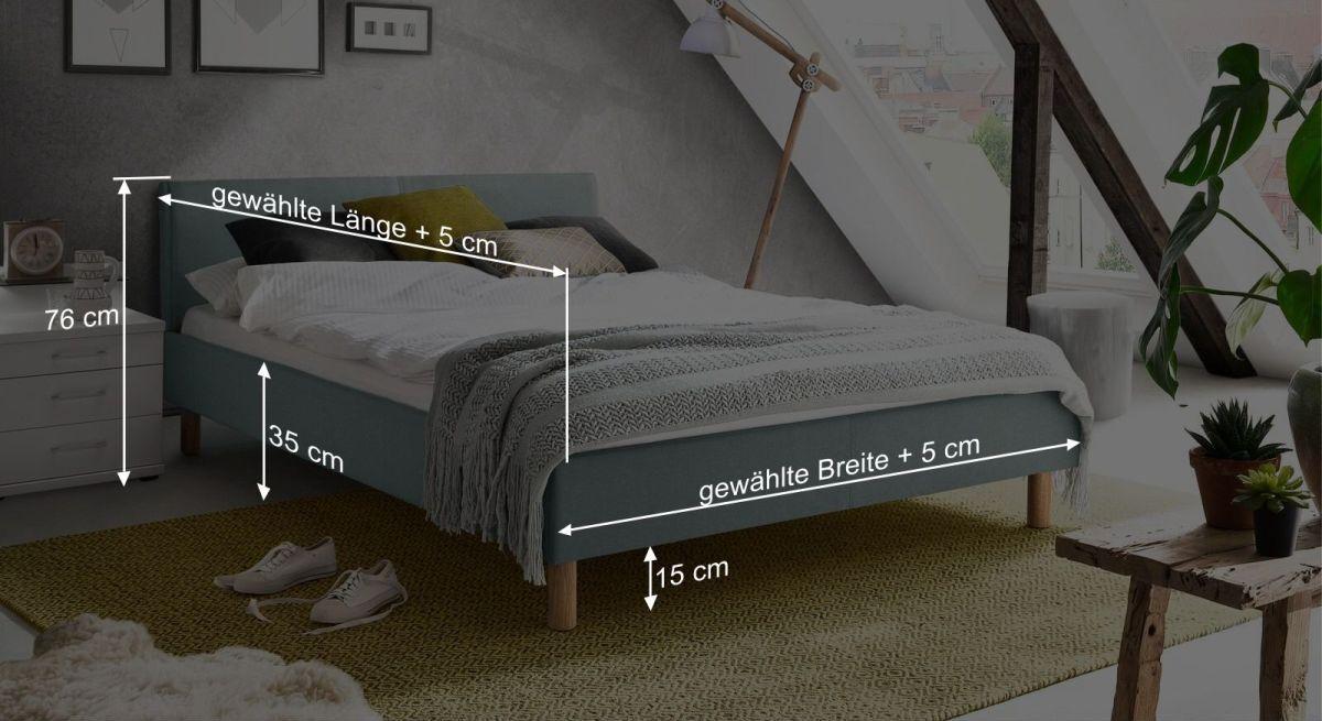 Bemaßungsgrafik vom Bett Bela