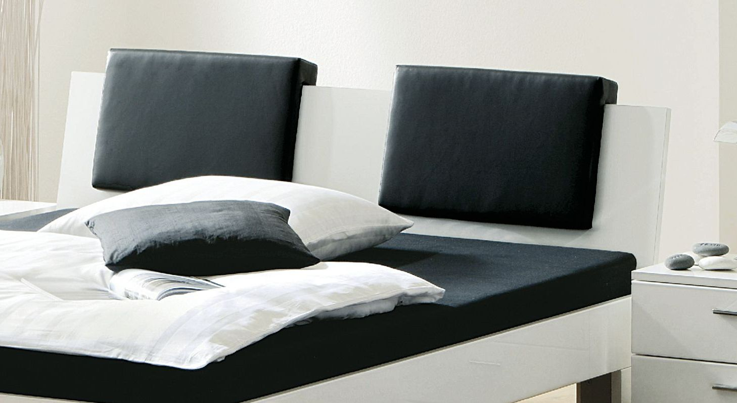 design bett black white auf rechnung bestellbar. Black Bedroom Furniture Sets. Home Design Ideas