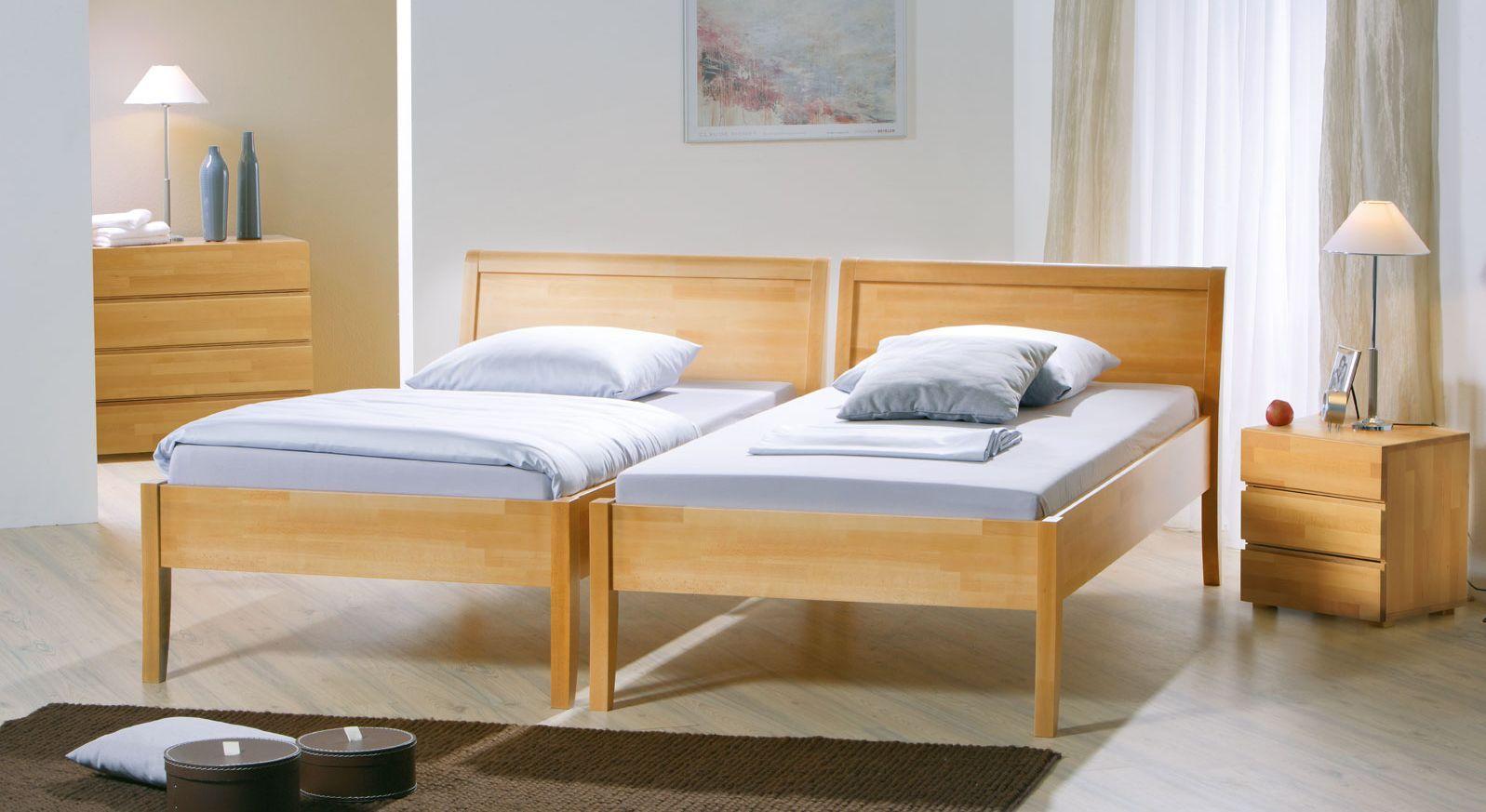 Seniorenbett Bormio in Buche natur mit Komforthöhe von 48cm