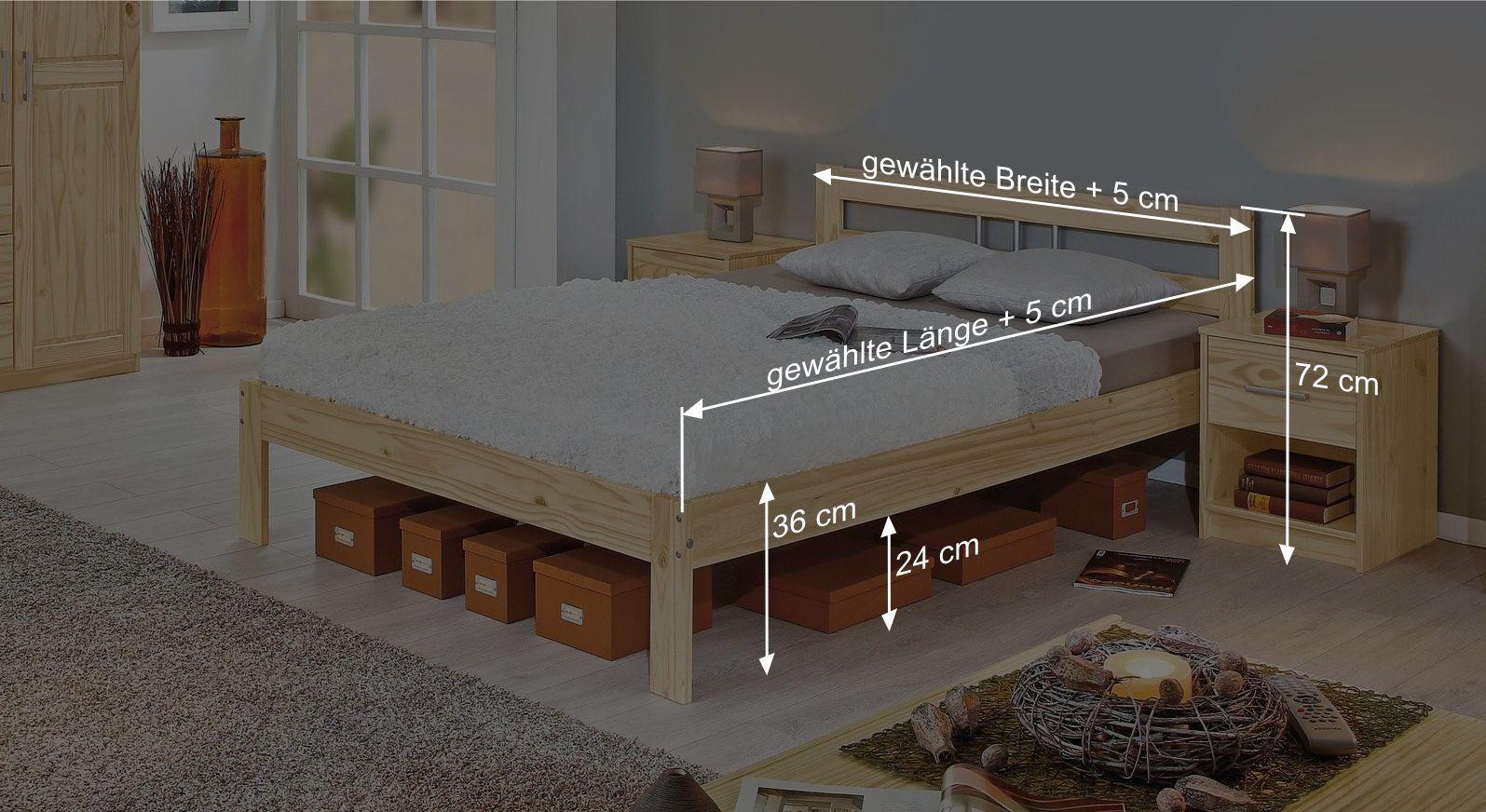 Bemaßungsskizze zum Bett Bregenz