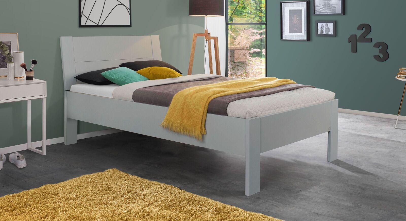 Preiswertes Bett Burana in Hellgrau