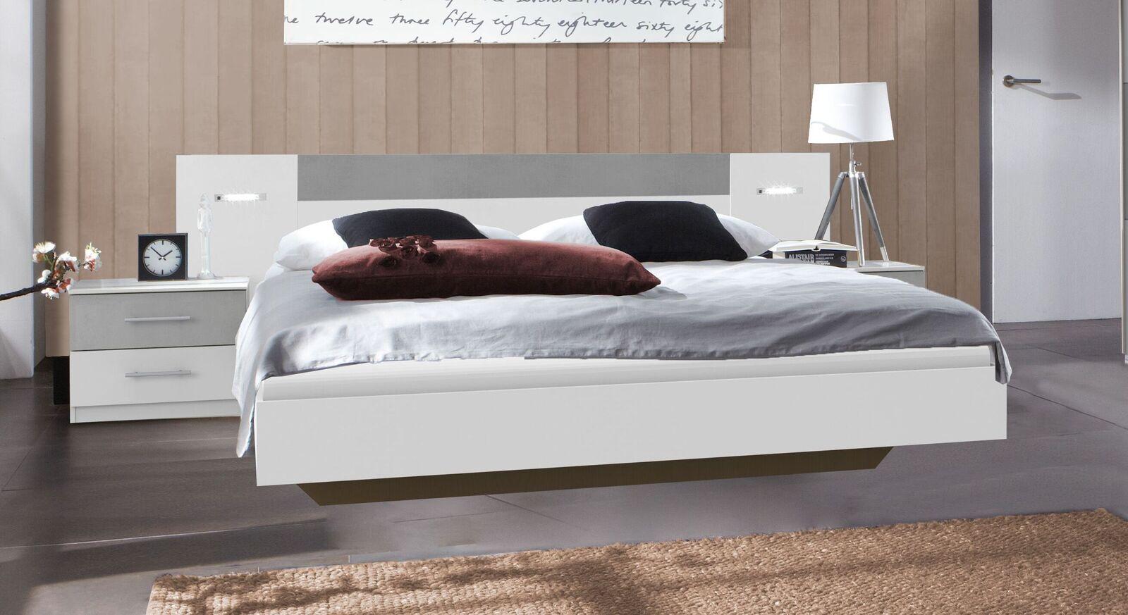 Bett Dahlen mit integrierten LED-Leuchten