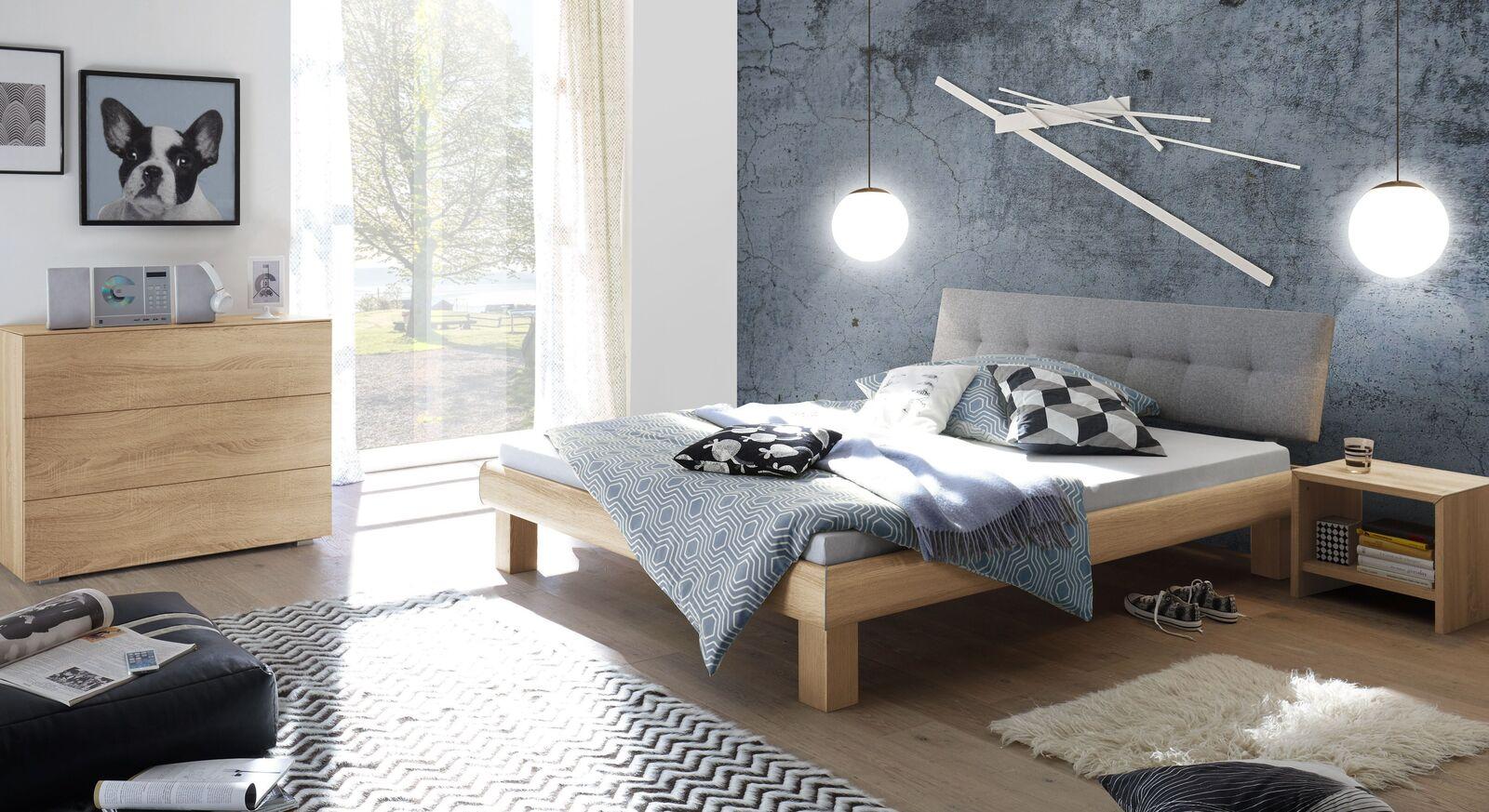 Bett Eastport mit passenden Beimöbeln