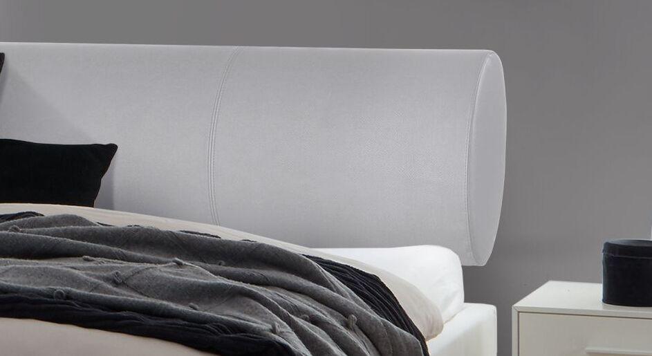 Bett Ikar mit gerundetem Kopfteilpolster