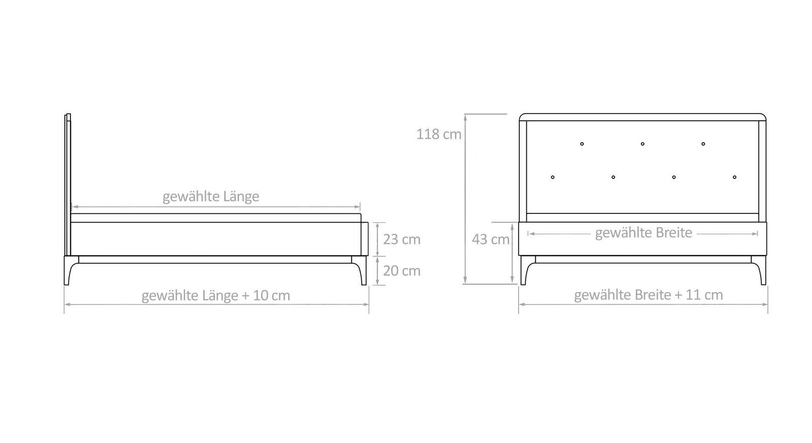 Grafik zum Bett Ilmatar
