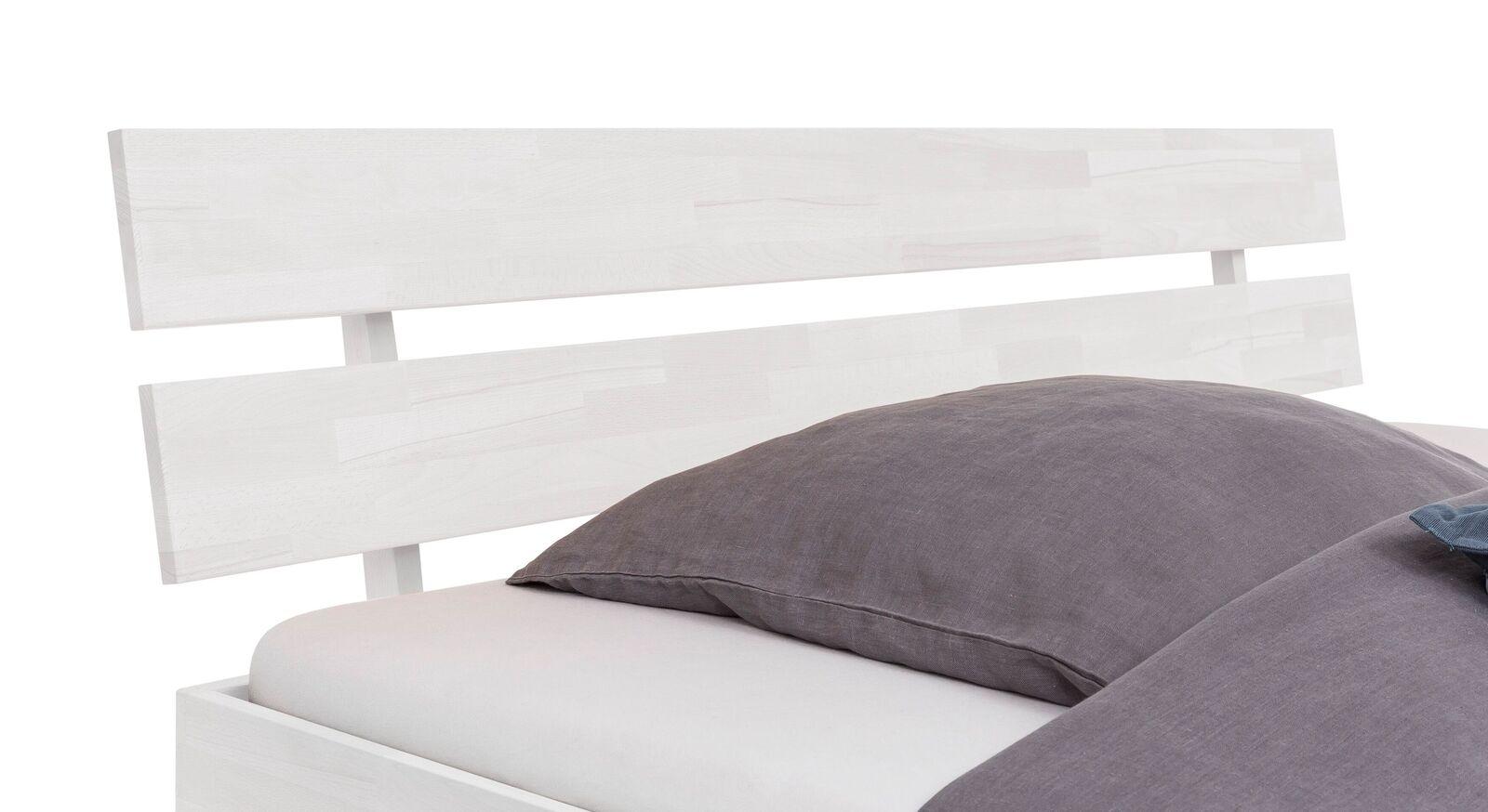 Bett Karmijn mit Latten-Kopfteil