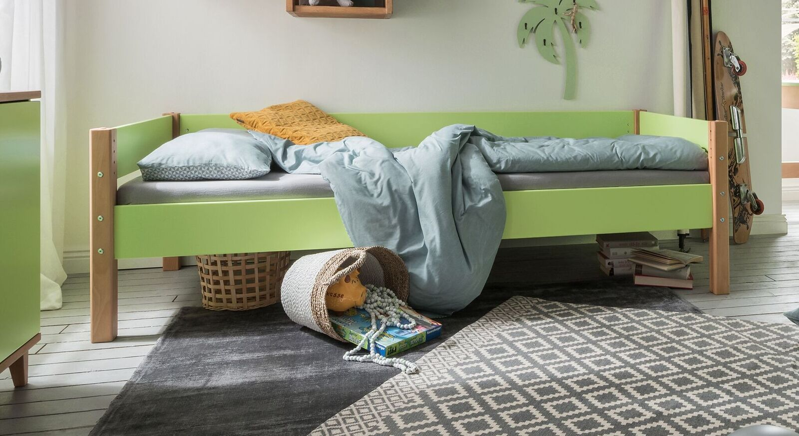 Teilmassives Bett Kids Nordic bis 100 kg