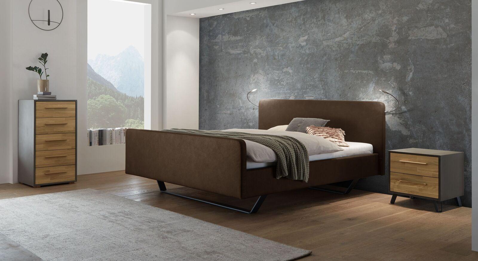 Bett Kismet mit passenden Schlafzimmermöbeln