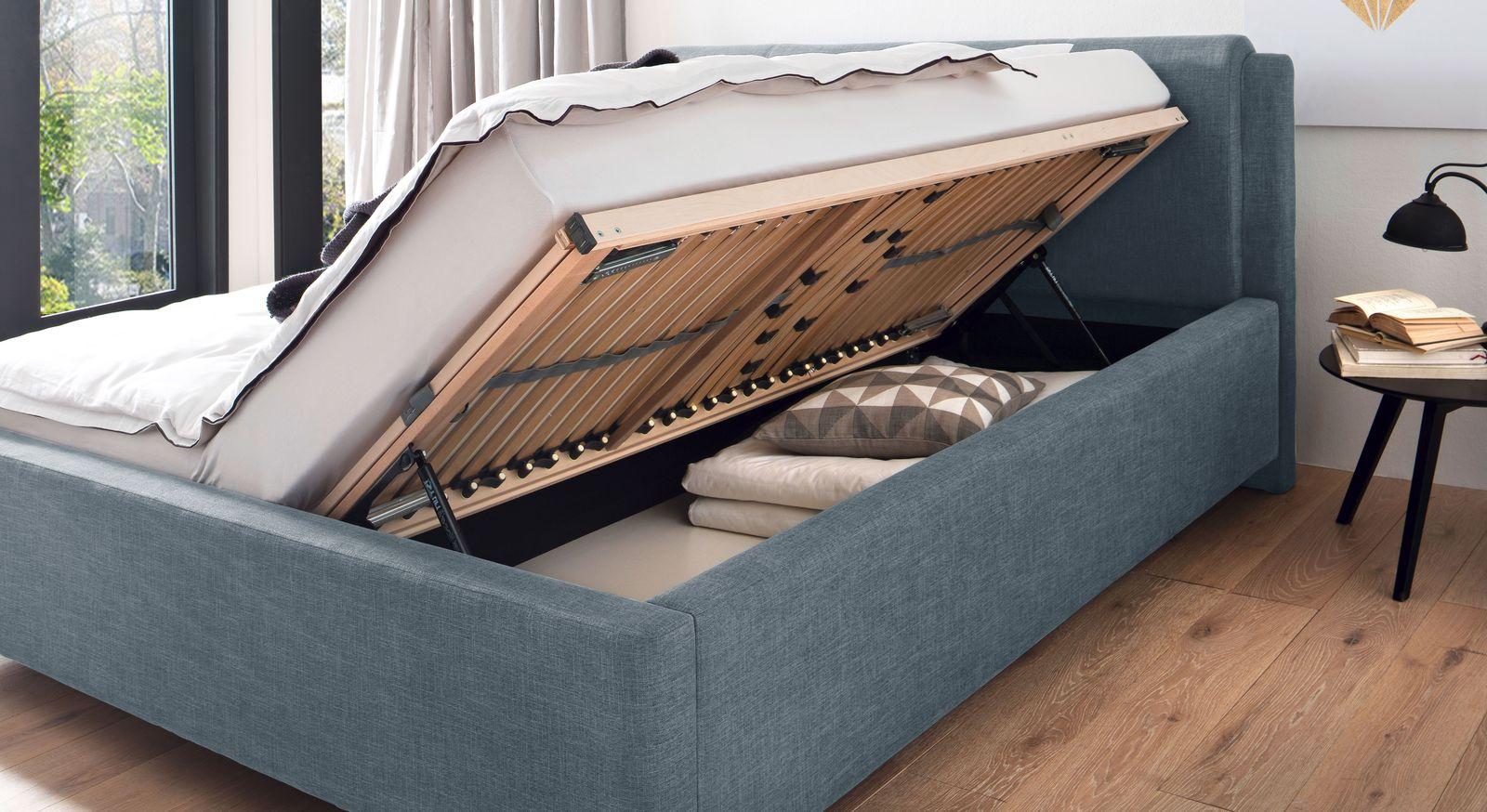 Breites Bett La Marsa mit praktischen Bettkästen
