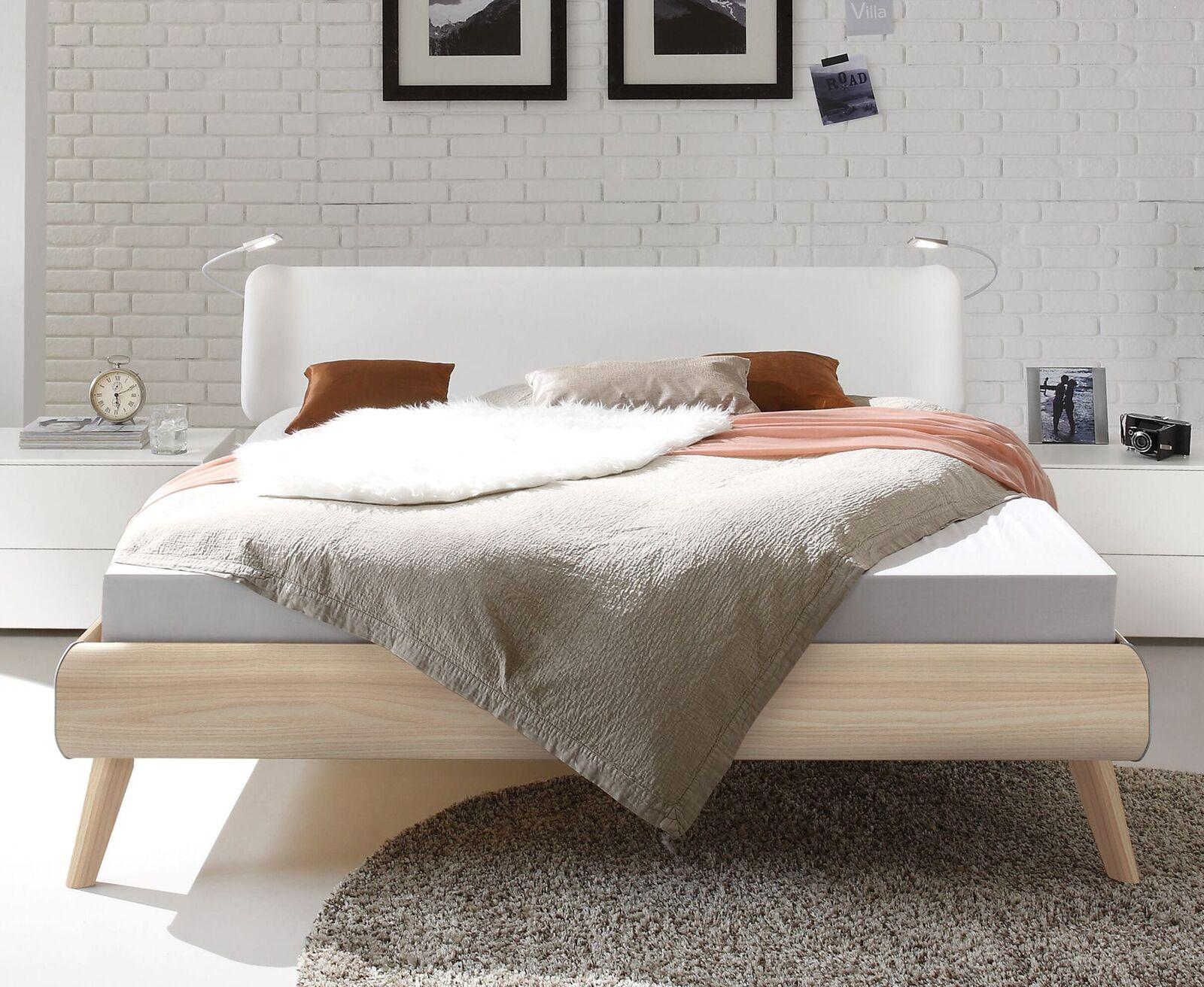 bett im skandinavischen design mit kunstleder kopfteil labrea. Black Bedroom Furniture Sets. Home Design Ideas