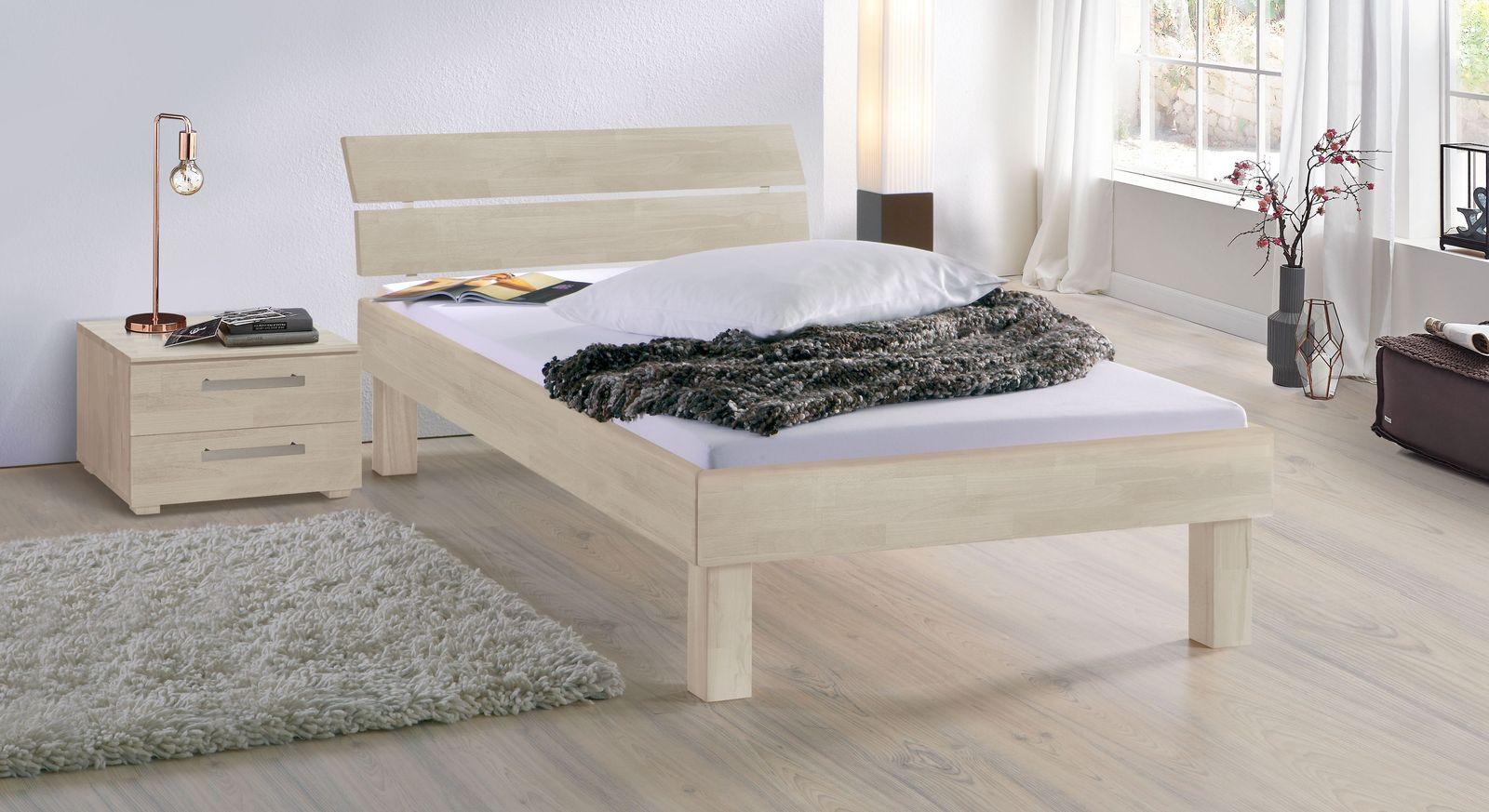 Weißes Bett Madrid Komfort in 25 cm Höhe