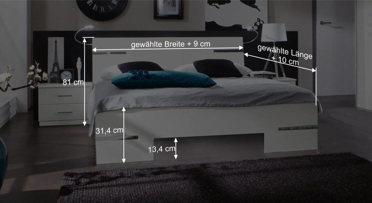 Bemaßungsgrafik zum Bett Manati