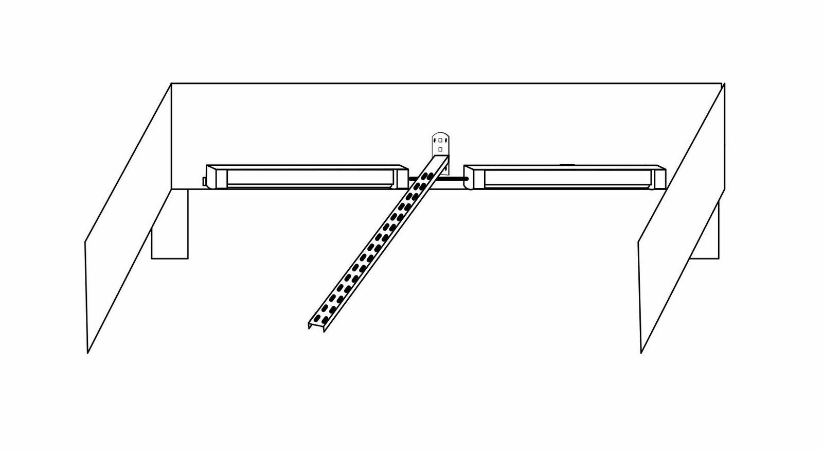 Grafik der zur Montage der Fußteilbeleuchtung des Bettes