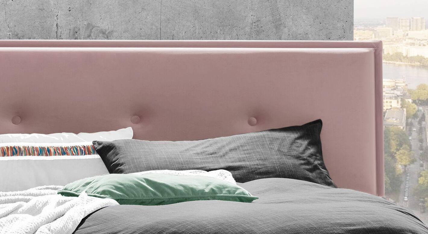 Gepolstertes Bett Nocan mit Zierknöpfen am Kopfteil