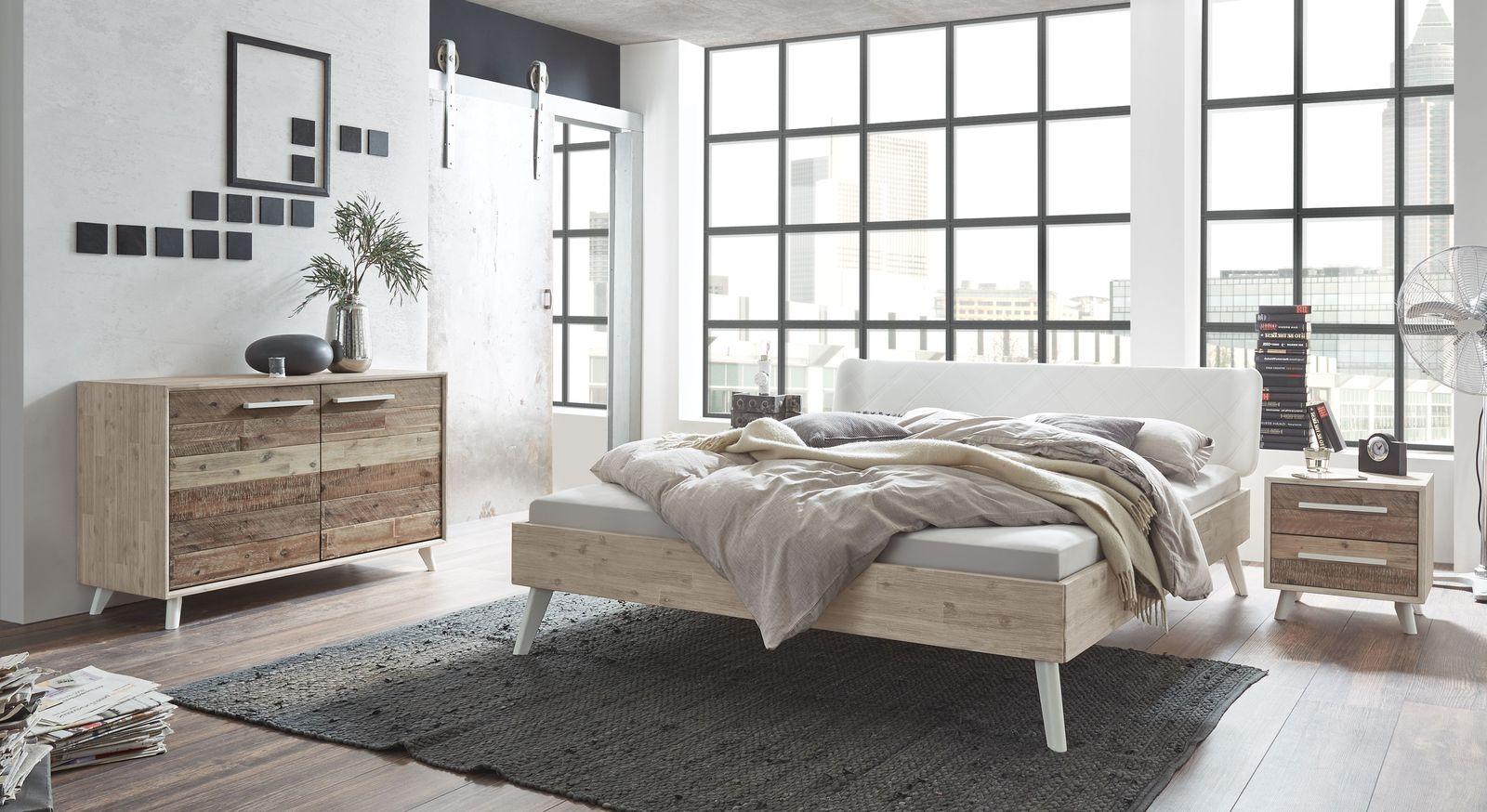 Bett Ranua mit passenden Schlafzimmer-Möbeln