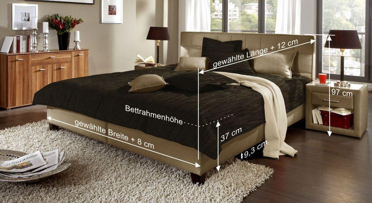 Bett Sansone mit Bemaßungs-Skizze