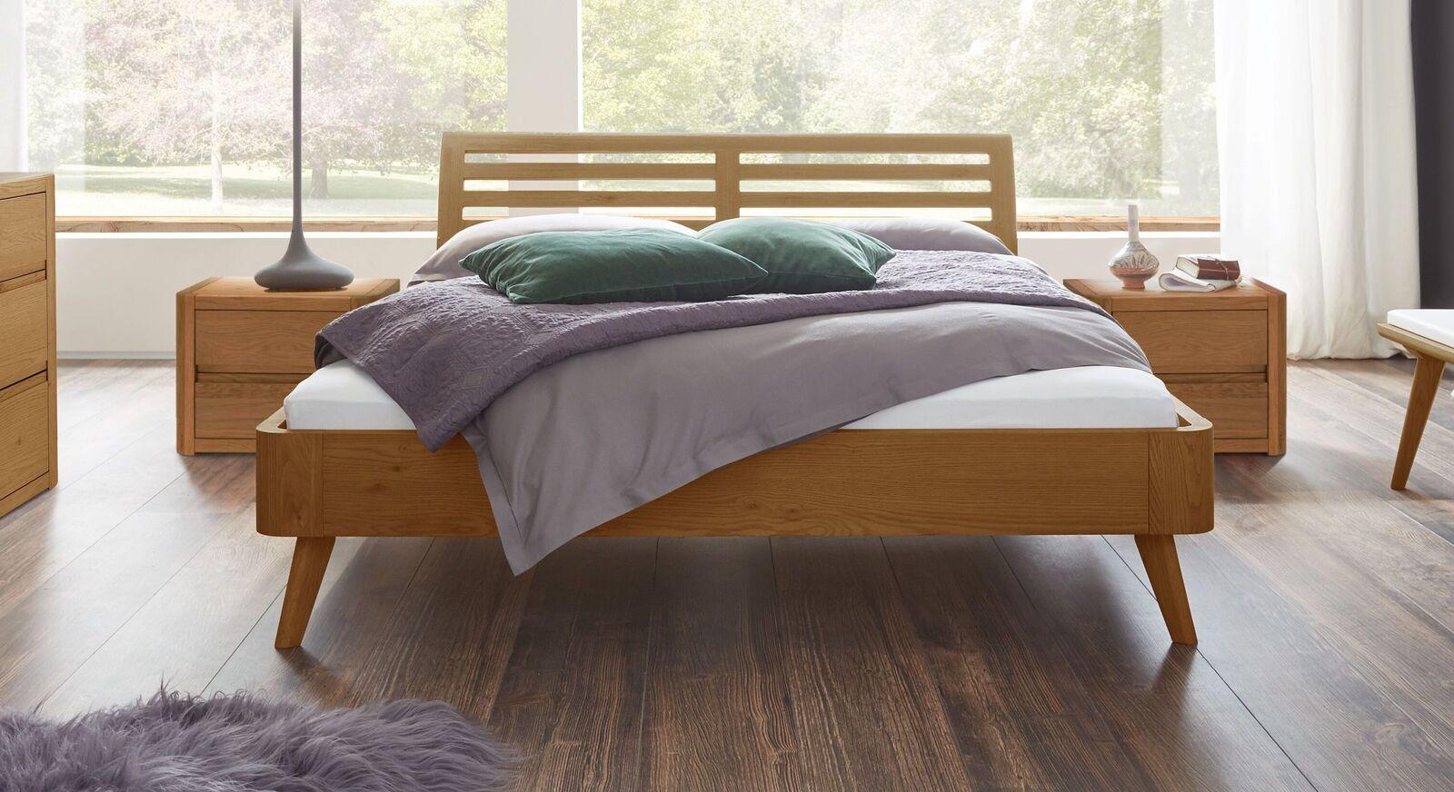 Bett Santa Rosa aus Eiche natur