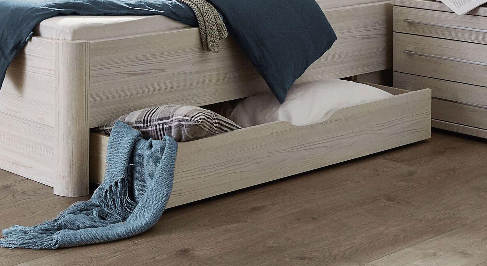 Geräumiger Bett-Schubkasten in Polar-Lärche-Dekor