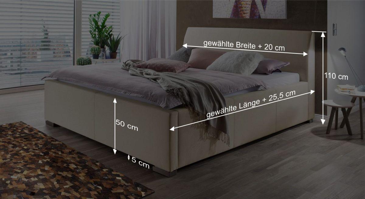 Maßgrafik zum Bett Sesimbra