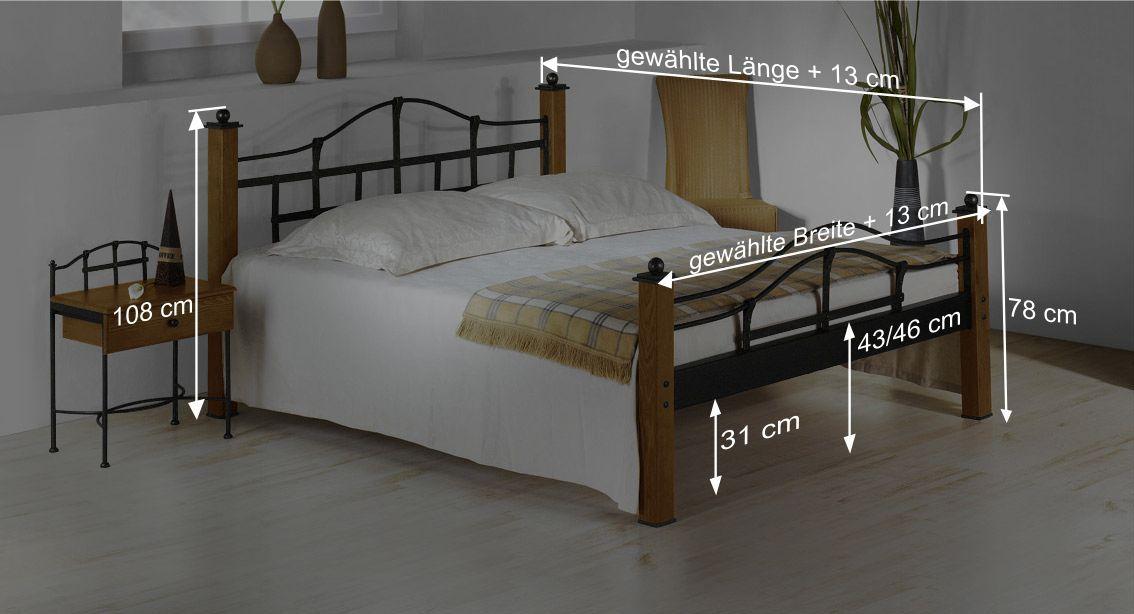 Bett Sinjas Bemaßungsskizze