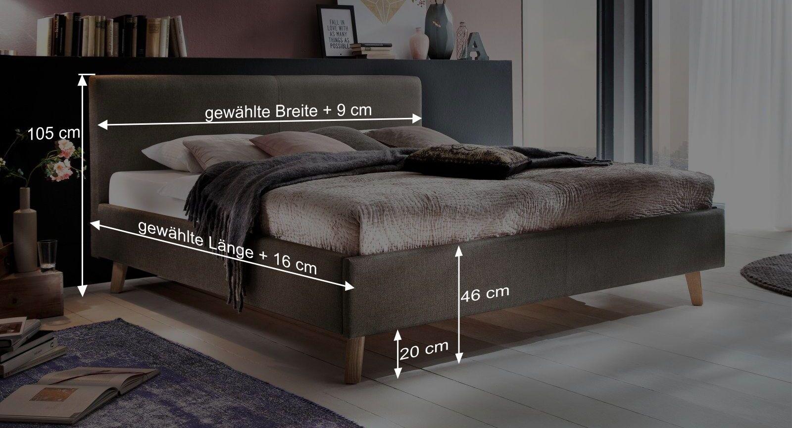 Maßgrafik zum Bett Susella