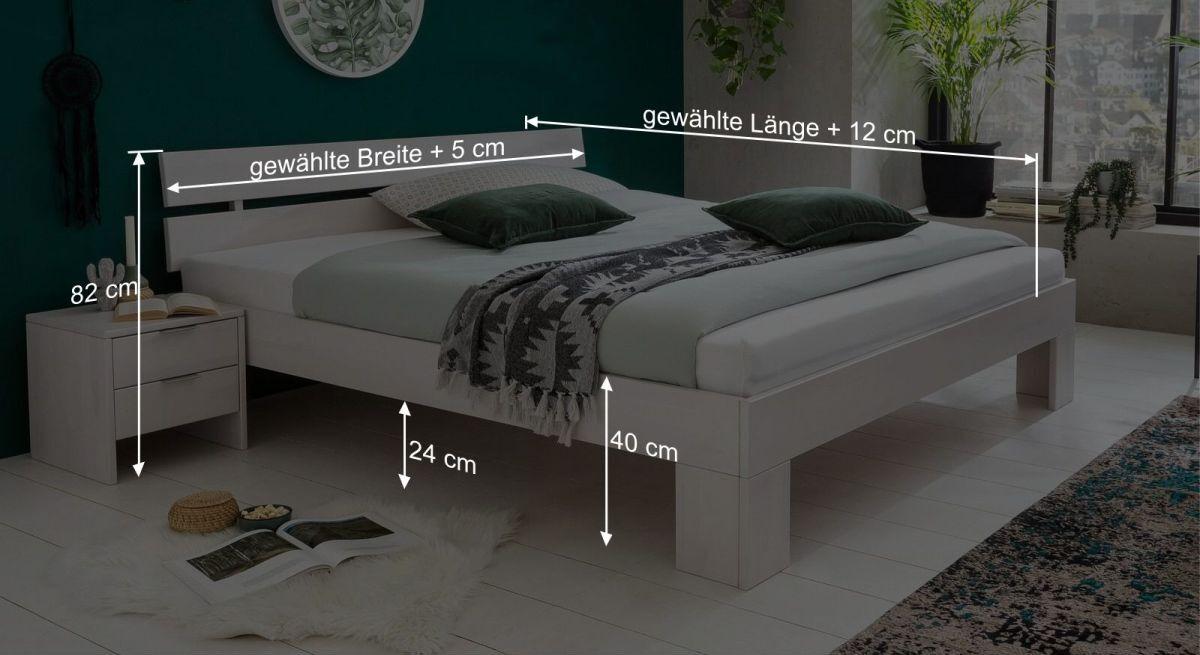Bemaßungs-Grafik zu Bett Tanu