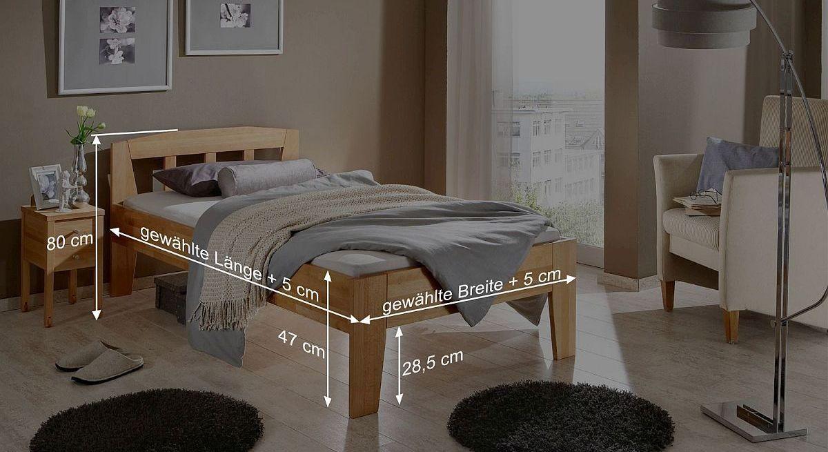 Bett Tessins Bemaßungsskizze