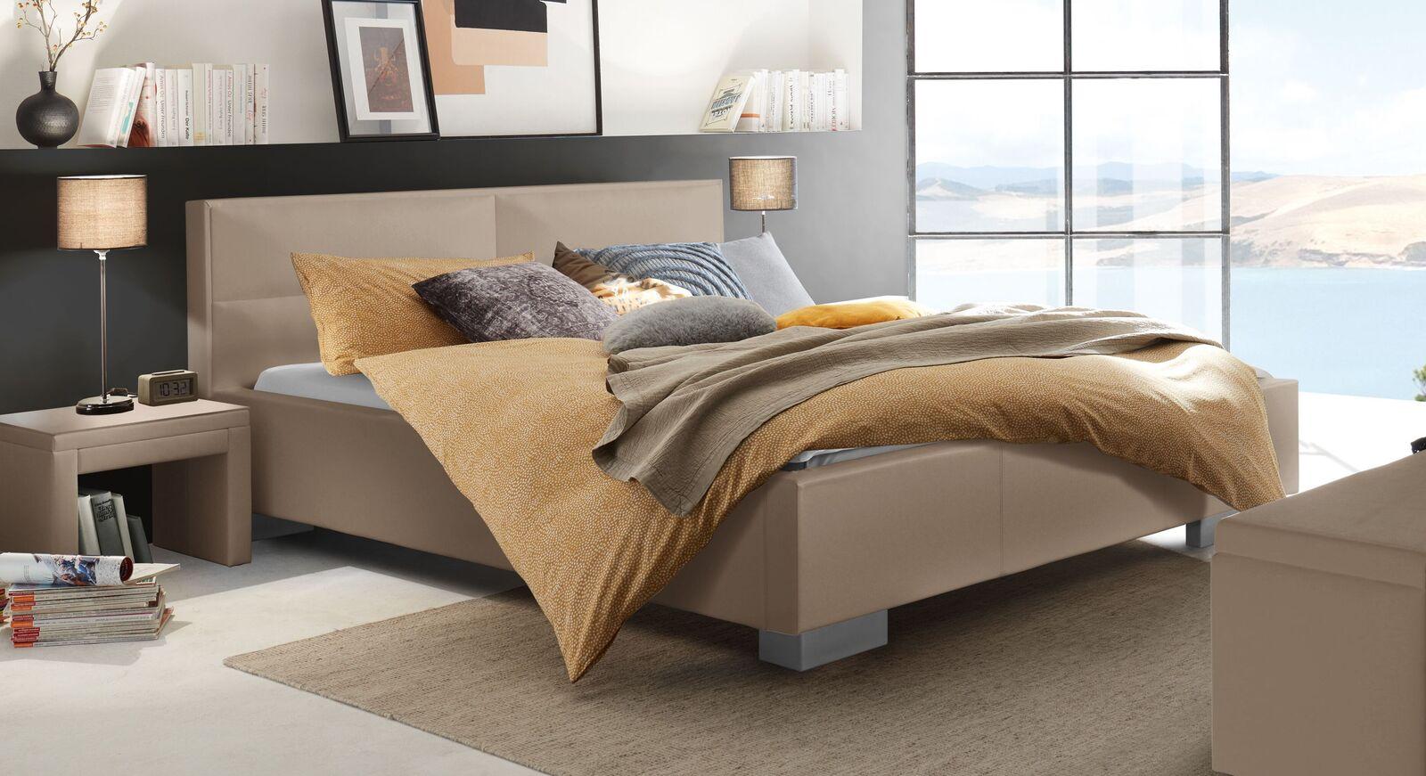 Hochwertiges Bett Thomes aus Luxus-Kunstleder