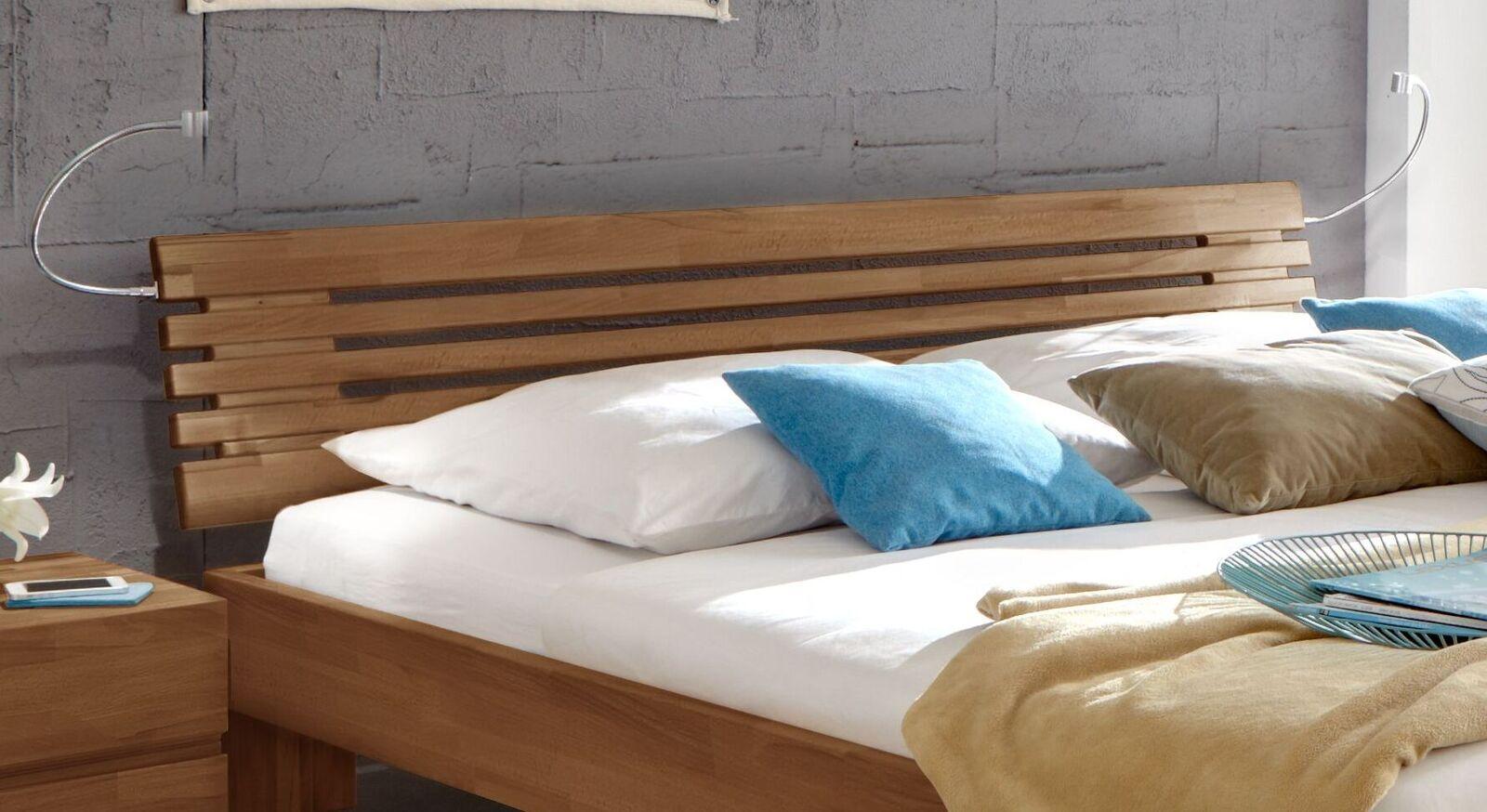 Bett Wood Romance mit hochwertigem Sprossen-Kopfteil