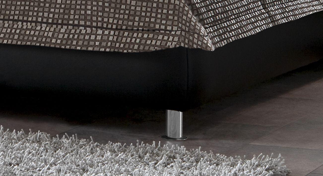 Bett Carisio Bettbeine Füße aus Metall verchromt