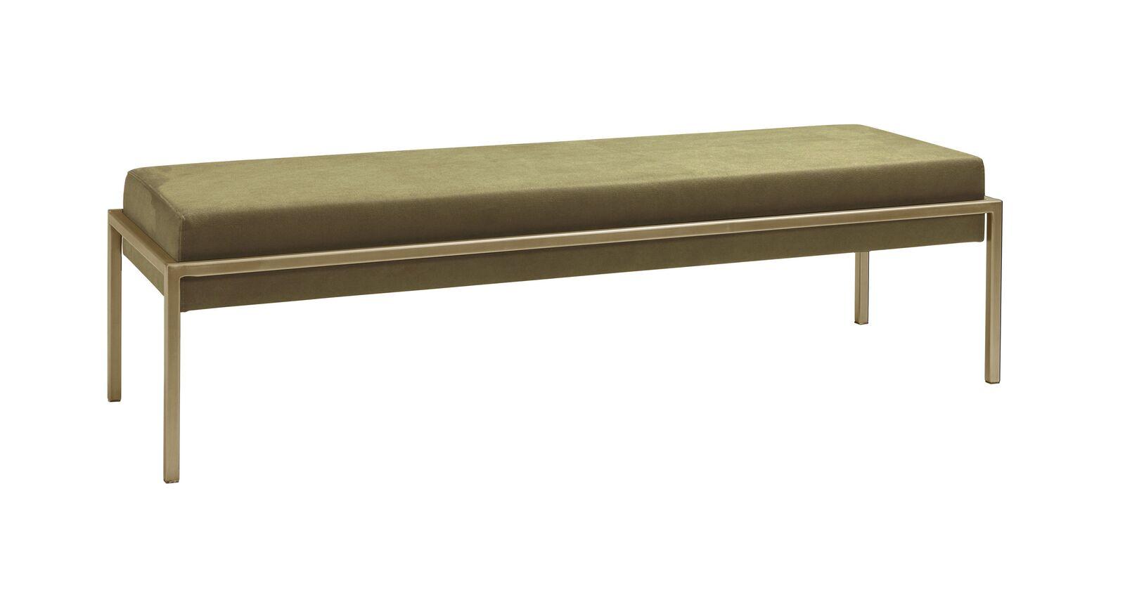Bettbank Nocan mit bronzefarbenem Metallgestell
