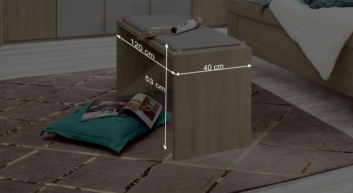 Bemaßungsgrafik der Bettbank Pelham