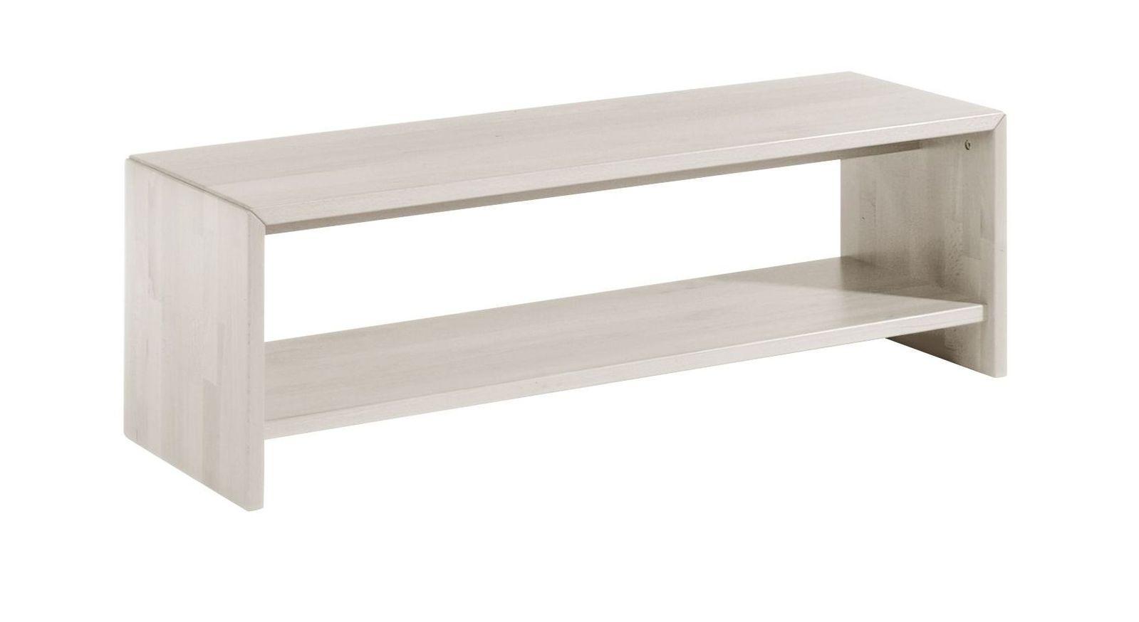Moderne Bettbank Ramiro in Weiß