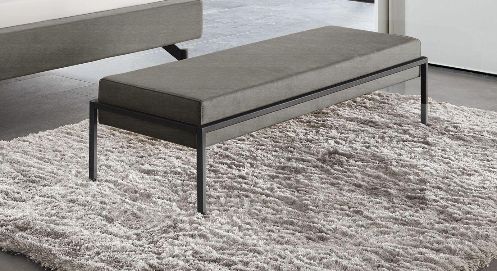Bettbank Sotello mit umbrafarbenem Sitzpolster